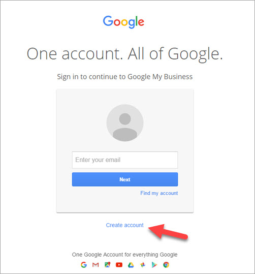 Login or Create Google account
