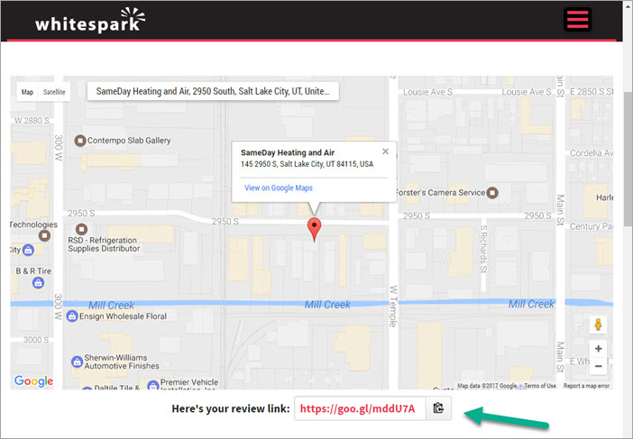 Whitespark Google Review Link Generator URL - Smart Local
